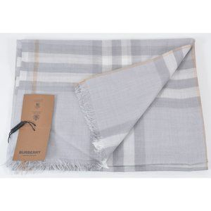 Burberry Silk Wool Nova Check Lightweight Scarf